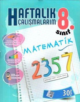 Batı Akademi Yayınları 8. Sınıf Matematik Haftalık Çalışmalarım