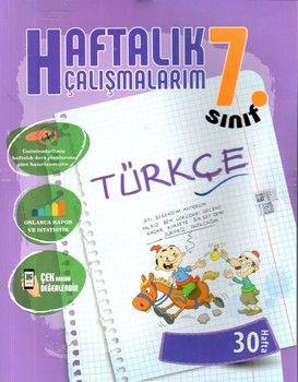 Batı Akademi Yayınları 7. Sınıf Türkçe Haftalık Çalışmalarım