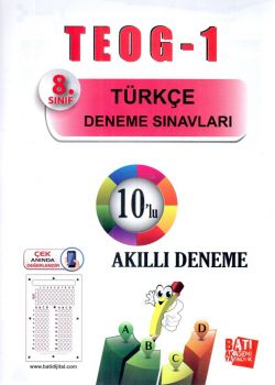 Batı Akademi Yayınları 8. Sınıf TEOG 1 Türkçe 10 lu Deneme Sınavı