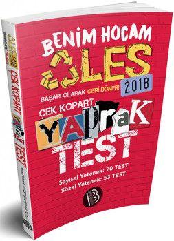 Benim Hocam 2018 ALES Sayısal Sözel Yetenek Çek Kopart Yaprak Test