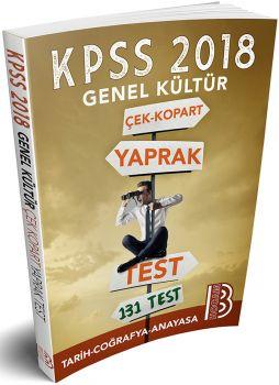 Benim Hocam 2018 KPSS Genel Kültür Tarih Coğrafya Anayasa Çek Kopart Yaprak Test