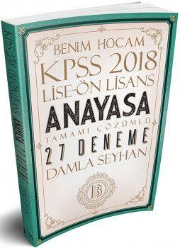 Benim Hocam 2018 KPSS Lise Ön Lisans Anayasa Tamamı Çözümlü 27 Deneme