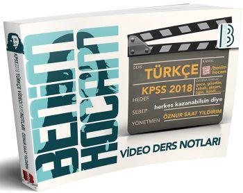 Benim Hocam 2018 KPSS Türkçe Video Ders Notları