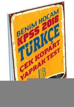 Benim Hocam 2018 KPSS Türkçe Çek Kopart Yaprak Test