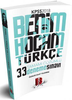 Benim Hocam 2018 KPSS Türkçe Tamamı Çözümlü 33 Deneme Sınavı