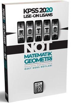 Benim Hocam 2020 Lise Önlisans Matematik Geometri MOTTO Ders Notları