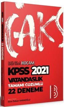Benim Hocam 2021 KPSS Vatandaşlık Tamamı Çözümlü 22 Deneme