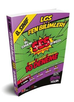 Benim Hocam 8. Sınıf LGS Fen Bilimleri SES Serisi 10 Fasikül Deneme