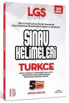 Benim Hocam 8. Sınıf LGS Türkçe Sınav Kelimeleri 5 Deneme İlaveli