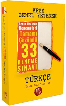 Benim Hocam KPSS Türkçe Tamamı Çözümlü 33 Deneme Sınavı
