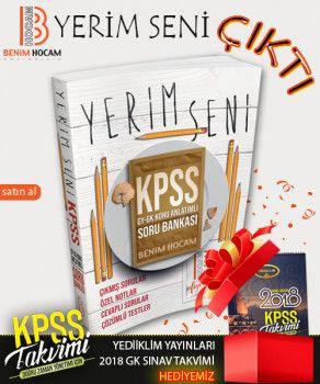 Benim Hocam KPSS Yerim Seni Genel Yetenek Genel Kültür Konu Anlatımlı Soru Bankası KPSS Genel Kültür Takvim Hediyeli