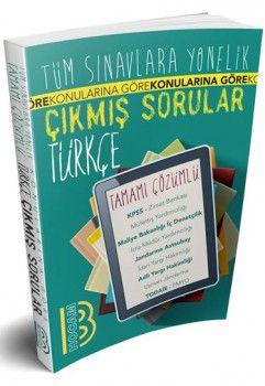 Benim Hocam Tüm Sınavlara Yönelik Türkçe Konularına Göre Çıkmış Tamamı Çözümlü Sorular