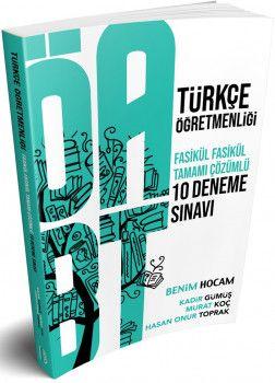 Benim Hocam Yayınları ÖABT Türkçe Öğretmenliği Tamamı Çözümlü 10 Deneme Sınavı