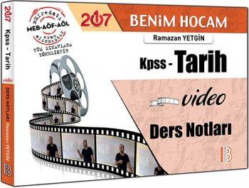 Benim Hocam Yayınları KPSS 2017 Tarih Video Ders Notları Ramazan Yetgin