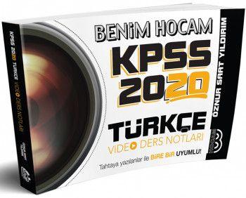 Benim Hocam Yayınları 2020 KPSS Türkçe Video Ders Notları