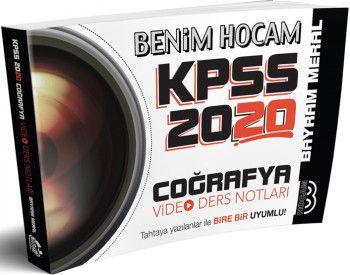 Benim Hocam Yayınları 2020 KPSS Coğrafya Video Ders Notları