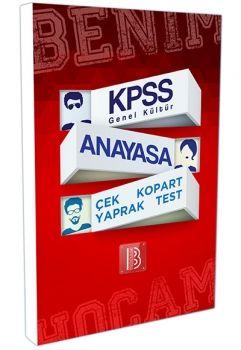 Benim Hocam Yayınları KPSS 2017 Anayasa Çek Kopart Yaprak Test