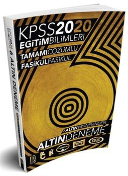 Benim Hocam Yayınları 2020 KPSS Eğitim Bilimleri Çözümlü Fasikül Fasikül 6 Altın Deneme