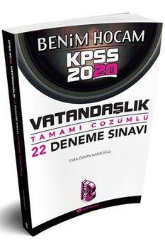Benim Hocam Yayınları 2020 KPSS Vatandaşlık Tamamı Çözümlü 22 Deneme