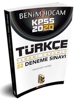 Benim Hocam Yayınları 2020 KPSS Türkçe Tamamı Çözümlü 22 Deneme