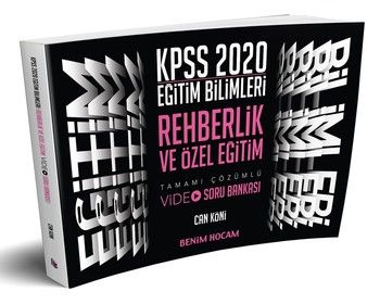 Benim Hocam Yayınları 2020 Eğitim Bilimleri Rehberlik ve Özel Eğitim Video Soru Bankası