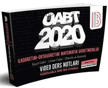 Benim Hocam Yayınları 2020 ÖABT İlköğretim ve Ortaöğretim Matematik Öğretmenliği Cebir Olasılık ve İstatislik Video Ders Notları