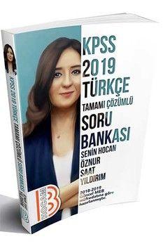 Benim Hocam Yayınları 2019 KPSS Türkçe Tamamı Çözümlü Soru Bankası
