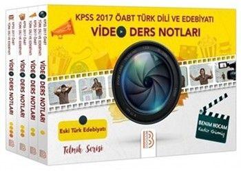 Benim Hocam Yayınları 2017 KPSS ÖABT Türk Dili ve Edebiyatı Öğretmenliği Modüler Video Ders Notu Seti 4 Kitap