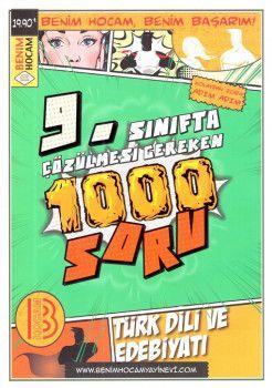 Benim Hocam Yayınları 9. Sınıf Türk Dili ve Edebiyatı Çözülmesi Gereken 1000 Soru
