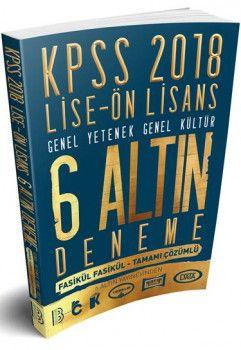Benim Hocam Yayınları 2018 KPSS Lise Ön Lisans Fasikül Fasikül Tamamı Çözümlü 6 Altın Deneme