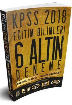 Benim Hocam Yayınları 2018 KPSS Eğitim Bilimleri Fasikül Fasikül Tamamı Çözümlü 6 Altın Deneme