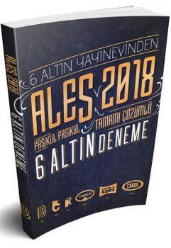 Benim Hocam Yayınları 2018 ALES Tamamı Çözümlü Fasikül Fasikül 6 Altın Deneme