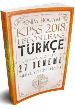 Benim Hocam Yayınları 2018 KPSS Lise Önlisans Türkçe Tamamı Çözümlü 27 Deneme