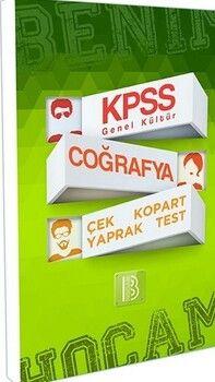 Benim Hocam Yayınları KPSS Coğrafya Genel Kültür Çek Kopart Yaprak Test