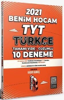 Benim Hocam Yayınları 2021 TYT Türkçe Tamamı Video Çözümlü 10 Deneme Sınavı