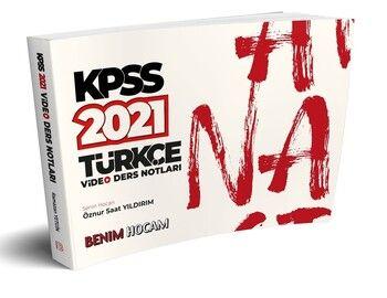 Benim Hocam Yayınları 2021 KPSS Türkçe Video Ders Notları