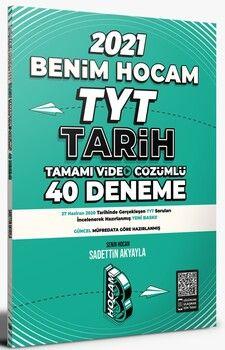 Benim Hocam Yayınları 2021 TYT Tarih Tamamı Video Çözümlü 40 Deneme Sınavı