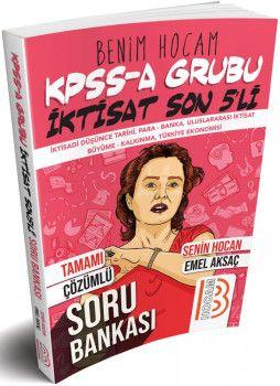 Benim Hocam Yayınları 2019 KPSS A İktisat Son 5\' li Tamamı Çözümlü Soru Bankası