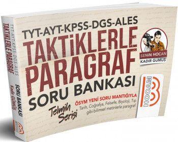 Benim Hocam Yayınları 2019 TYT AYT KPSS DGS ALES Paragraf Telmih Serisi Soru Bankası
