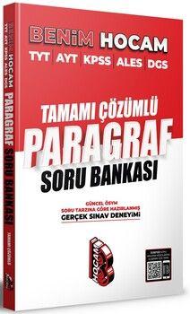 Benim Hocam Yayınları Tüm Adaylar İçin Paragraf Tamamı Çözümlü Soru Bankası