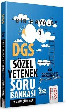Benim Hocam Yayınları 2022 DGS Sözel Yetenek Bir Hayale Serisi Tamamı Çözümlü Soru Bankası