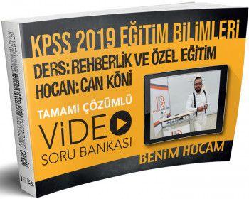 Benim Hocam Yayınları KPSS 2019 Eğitim Bilimleri Rehberlik ve Özel Eğitim Tamamı Çözümlü Soru Bankası