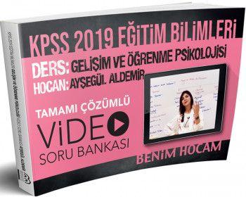 Benim Hocam Yayınları 2019 KPSS Eğitim Bilimleri Gelişim ve Öğrenme Psikolojisi Tamamı Çözümlü Video Soru Bankası