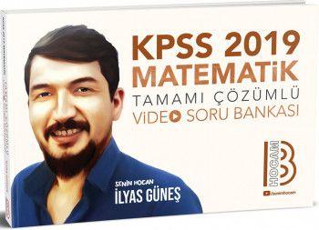 Benim Hocam Yayınları 2019 KPSS Matematik Tamamı Çözümlü Video Soru Bankası