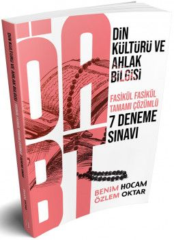 Benim Hocam Yayınları ÖABT Din Kültürü ve Ahlak Bilgisi Öğretmenliği Tamamı Çözümlü 7 Deneme Sınavı