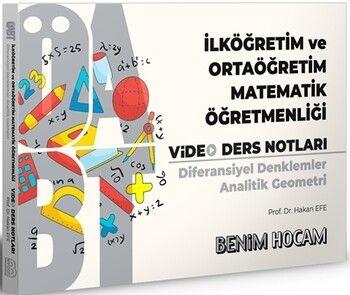 Benim Hocam2021 ÖABT İlköğretim ve Ortaöğretim Matematik Öğretmenliği Diferansiyel Denklemler Analitik Geometri Video Ders Notl