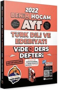 Benim Hocam2022 AYT Türk Dili ve Edebiyatı Video Ders Defteri
