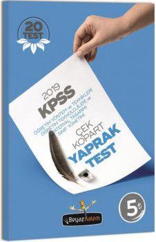 Beyaz Kalem 2019 KPSS Eğitim Bilimleri Öğretim Yöntem ve Teknikleri Materyal Tasarımı Sınıf Yönetimi Çek Kopart