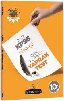 Beyaz Kalem 2019 KPSS Genel Yetenek Türkçe Çek Kopar
