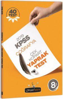 Beyaz Kalem 2019 KPSS Genel Kültür Coğrafya Çek Kopar